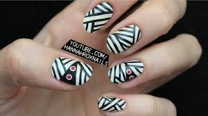 halloween mummy nail art youtube
