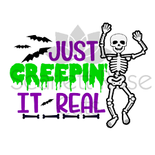 halloween skeleton silhouette just creepin it real skeleton halloween svg cut file for cricut