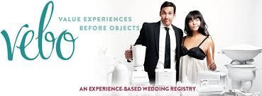 wedding regestries experience based wedding registries vebo