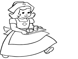 coloring pages nurse