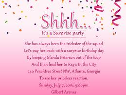 surprise birthday invite wording choice image invitation design