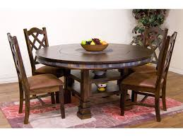 sunny designs dining room santa fe round table with lazy susan