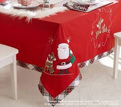 pottery barn table linens rudolph the red nosed reindeer table cloth pottery barn kids