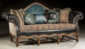 Home Furnishings And Decor by High Style Furniture Tooled Leather Sofa Luxury Fine Home Furnishi