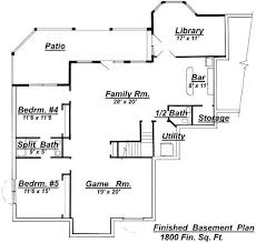 house plans with finished basements walkout basement plans finished walkout basement house plans