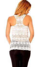 fashion vetement femme débardeur blanc pour femme avec dentelle au dos vêtements femme