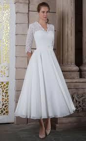 tea length wedding dress white bridal tea length wedding dress with sleeves 2016