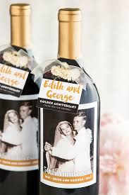 anniversary wine bottles golden wedding anniversary wine favors gift favor ideas from