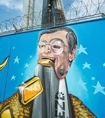 bce sede centrale la bce finanzia i graffiti sul cantiere e apre alla contestazione