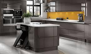 this wickes sofia graphite kitchen u0027s high gloss dark grey units
