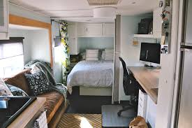 2 Bedroom Travel Trailer Floor Plans Homes On Wheels 5 Travel Trailer Makeovers We Love Porch Advice
