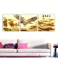 2017 unframed art picture home decoration canvas prints eagle