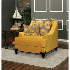 Velvet Accent Chair Furniture Of America Charlette Velvet Accent Chair In Gold Idf