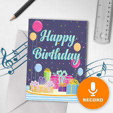 recordable birthday card ebay