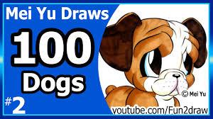 fun2draw thanksgiving cute bulldog mei yu draws 100 dogs 2 100 drawings challenge