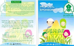 contoh desain proposal keren cara buat proposal sponsorship unik rifan al tw