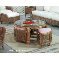 round wicker end table round wicker coffee table with seats http argharts com