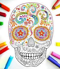 sugar skull coloring pages 21 printable pdf blank sugar skull