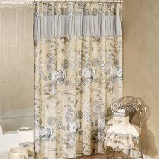ashley floral shower curtain