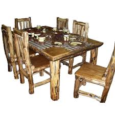 Log Dining Room Table by Large Rustic Pine Kitchen Table Pin Related For Rustic Kitchen