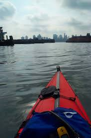 recycled adventures urban kayaking new york city wind against