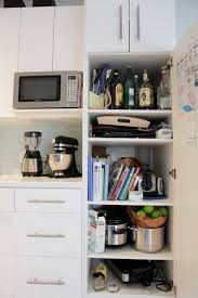 microwave in pantry cabinet