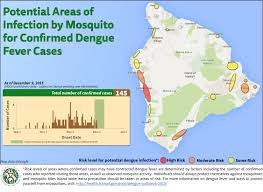 Maui Hawaii Map Dengue Fever Case Count Up To 145 New Map Shows Risk Changes