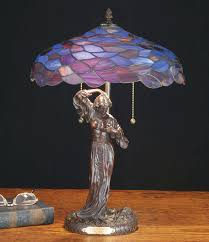 Tiffany Table Lamps 51565 Tiffany Maxfield Parrish Griselda Table Lamp