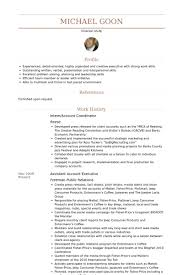 Project Coordinator Resume Sample by Account Coordinator Resume Samples Visualcv Resume Samples Database