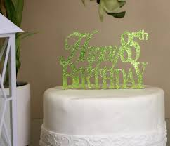 all about details lime green happy 85th birthday cake topper all