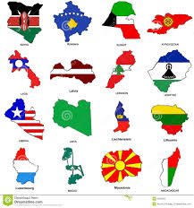 07 World Map by World Flag Map Sketches Collection 07 Stock Photo Image 5656180