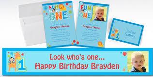 custom one wild boy 1st birthday invitations u0026 thank you notes
