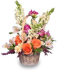 flower baskets flowers basket of unique elegance bouquet sf204
