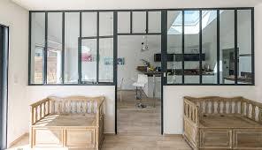 verriere pour cuisine verrière d intérieur type atelier macoretz agencement