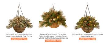 christmas hanging baskets with lights holiday christmas hanging baskets with lights for indoor or outdoor