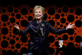 hillary clinton returns with a speech at the professional business