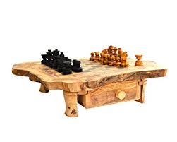 Chess Set Amazon Amazon Com Naturally Med Olive Wood Rustic Chess Set 14 Inch