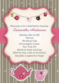 bridal tea party invitation wording printable pink and brown bridal shower tea party invitations