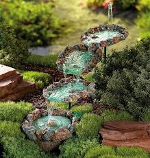 waterfalls for backyards small water garden fountain ideas small
