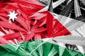 Colorado Flag Marijuana Jordan Flag On Cannabis Background Drug Policy Legalization