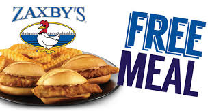 zaxby s free meal from zaxby s