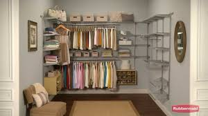 rubbermaid configurations closet system youtube