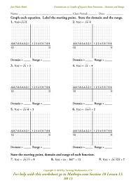 quadratic transformations worksheet worksheets
