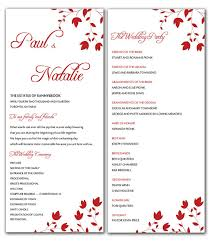 word template for wedding program diy flowers wedding program microsoft word template