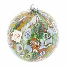tree ornaments murano glass ornament green
