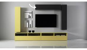Wall Tv Furniture Colored Glossy Charcoal Grey Horizontal Or Vertical Wall Tv Unit