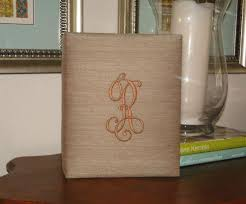 monogrammed photo album large monogrammed silk photo album the monogram merchant