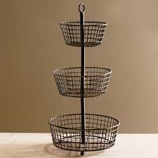 tiered fruit basket lostine three tier wire basket 8232
