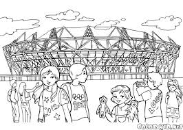 coloring page olympic stadium