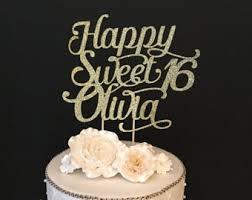 16 cake topper sweet 16 cake topper etsy